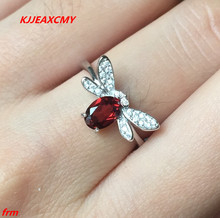 KJJEAXCMY Fine jewelry 925 sterling silver ring wholesale natural garnet women alive natural purple tooth garnet garnet ring classic garnet s925 sterling silver jewelry free shipping
