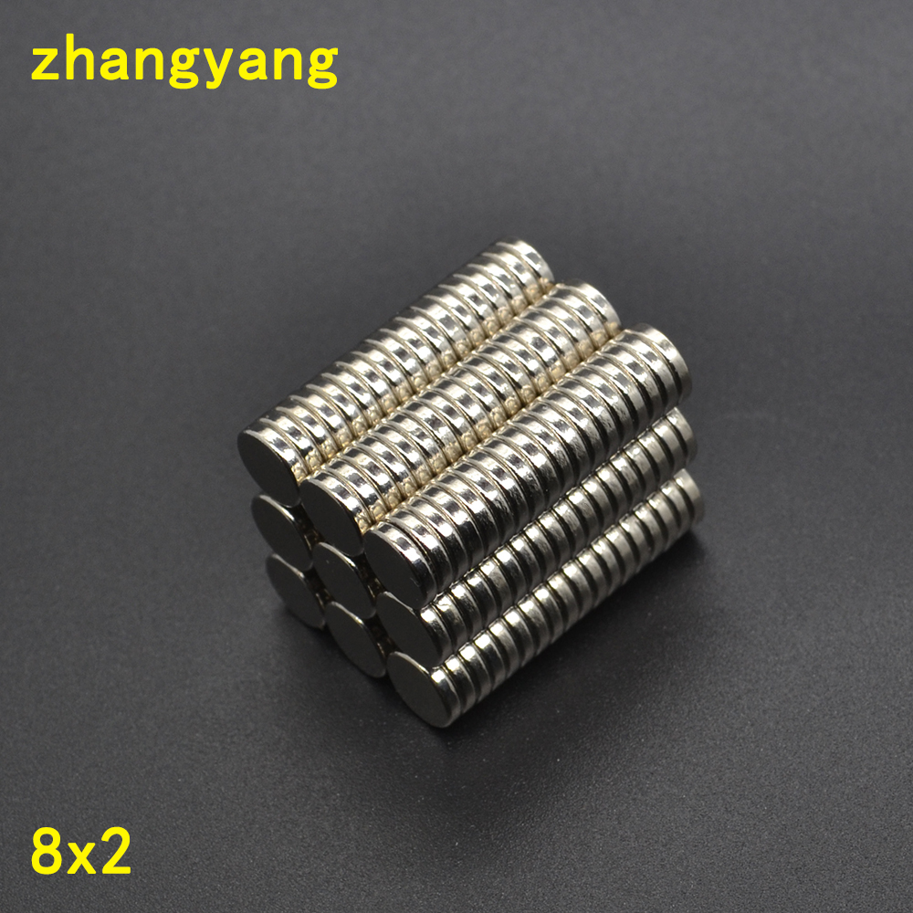 20/50/100/200/500pcs 8x2mm Strong Round Magnet Neodymium magnet Industrial Magnet 8*2 8x2 Art Craft Connection free shipping