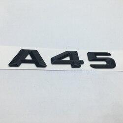 매트 블랙 a 45 트렁크 후면 번호 문자 배지 엠 블 럼 스티커 메르세데스 벤츠 w176 amg a 클래스 a45