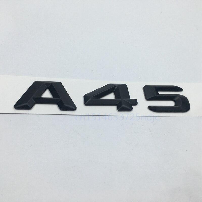 1 Set Number Letters Trunk Emblem Sticker for Benz AMG GLA45 4MATIC TURBO AMG