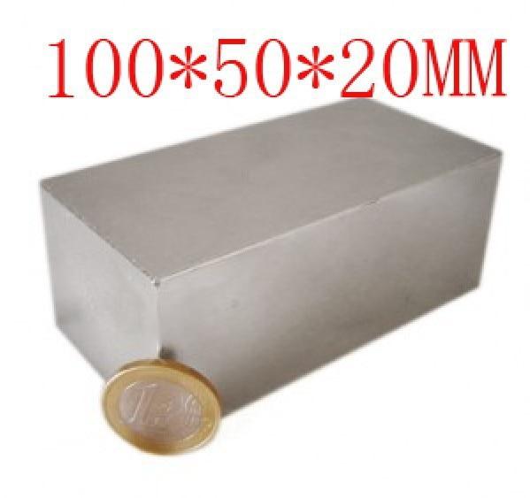 100*50*20 супер блок отверстие магнит 100x50 20 мм мощный ремесло неодимовые Редкоземельные постоянные сильный N35 N35