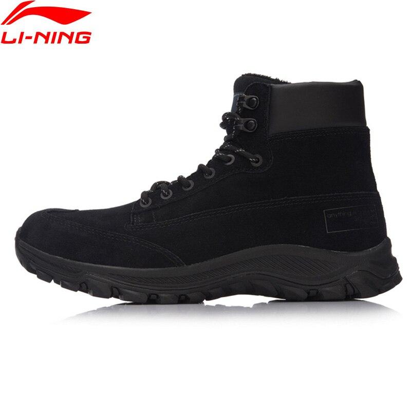Li-Ning Men LN Siker Classic Walking Shoes Warm Winter LiNing Sport Shoes Comfortable Sneakers AGLM159 YXB108 original li ning men professional basketball shoes