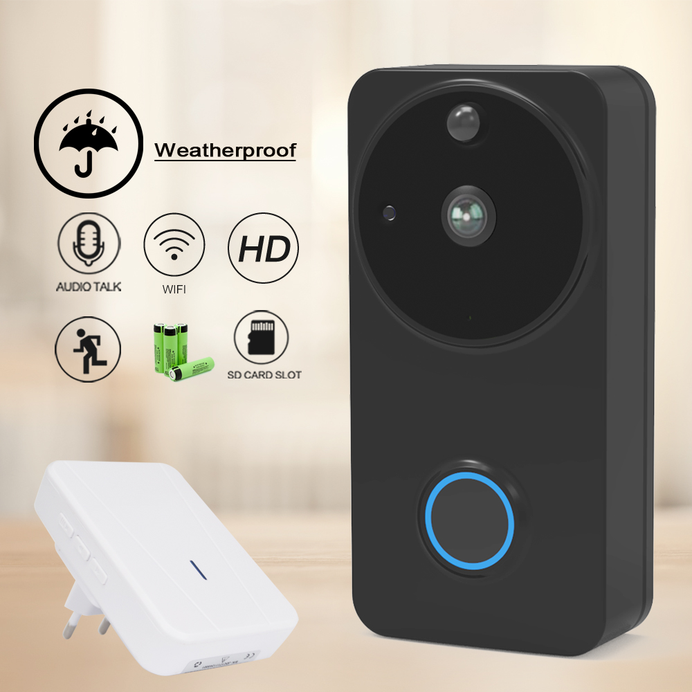 CTVMAN Waterproof Video Call Wifi Doorbell Intercom for Home Wireless Video Door phone For Apartment Battery IP Doorphone Camera for 2 apartment video intercom fingerprint recognition password 700tvl sony camera unlock intercom video phone ip65 waterproof