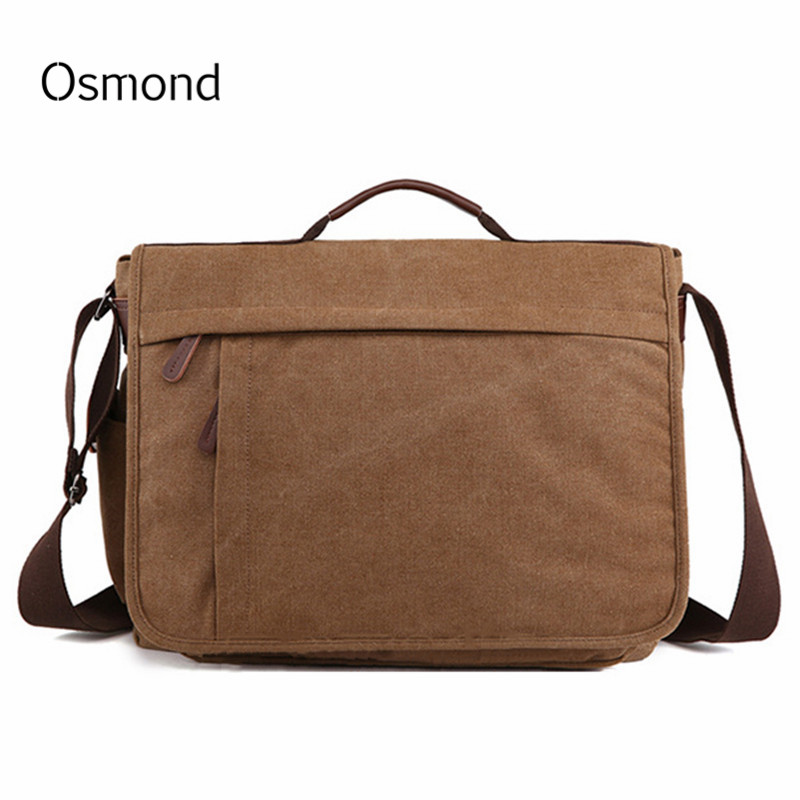 2018 Brand Large Capacity Canvas Male Briefcase Business Laptop Bag Vintage Shoulder Crossbody Bag For Men Messenger Bags Bolsa
