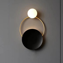 Nordic Modern Iron Metal LED Decorative Lights Wall Light Living Room Tiffany Sconce Wall Lamp Bedside Bedroom Wall Light Lamps