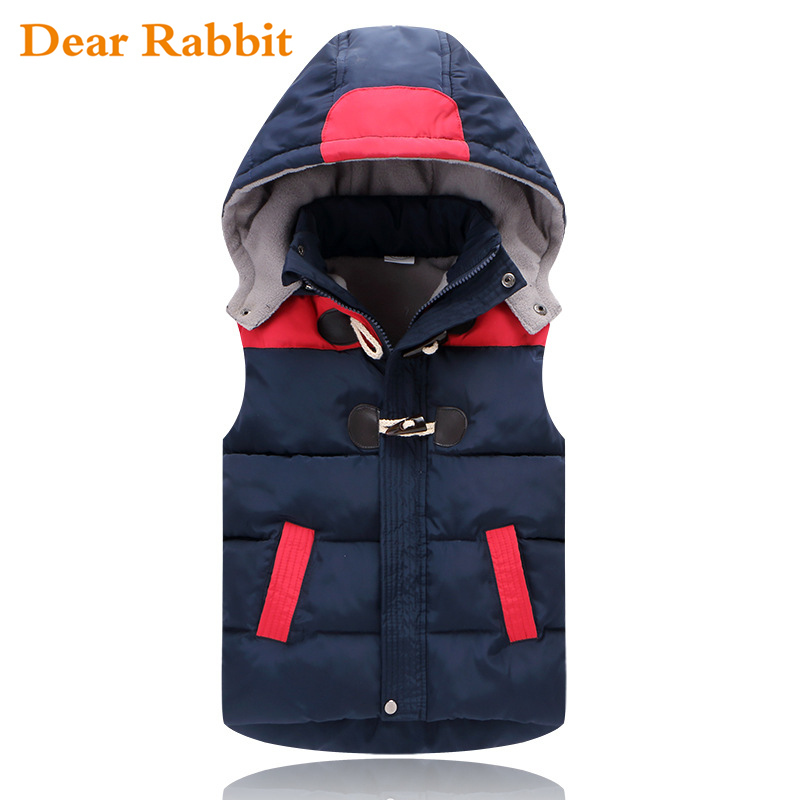 2017 Winter Kids vests Waistcoats Children Vest Warm Hooded Coat Infant sleeveless Jacket Cotton Kid Clothe Boy Girl Outwear
