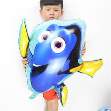 New 100pcs/lot Dory fish foil balloons large size helium ballons childrens classic toys dolly inflatable air animal globos