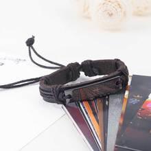Vintage Punk Bible Cross Leather Bracelets