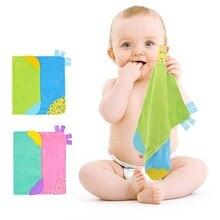 Безопасный Прорезыватель для зубов для малышей Мягкие плюшевые полотенца игрушка успокаивать младенцев Полотенца Веселые погремушки Playmate спокойным Игрушки для малышей
