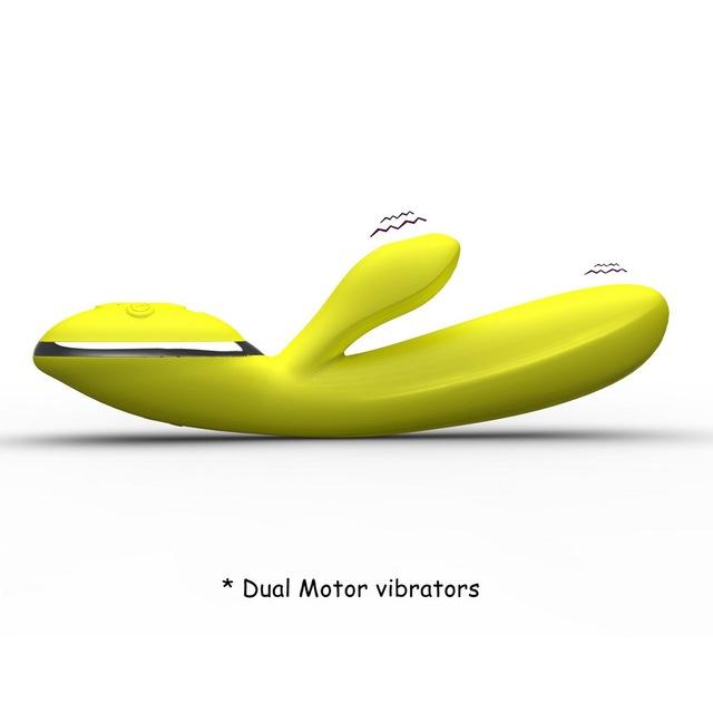 Banana Rechargeable Heated Warming Rabbit Vibrator