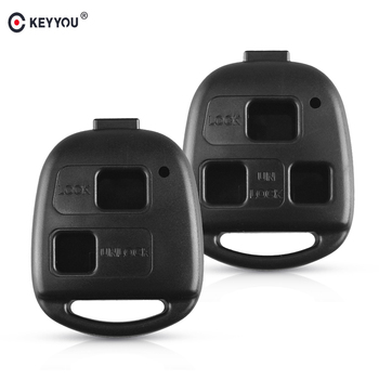 KEYYOU 2/3 Button Remote Key Shell Case For Toyota RAV4 Land Cruiser YARIS CAMRY For Lexus RX300 ES300 LS400 GX460 Key No Blade image