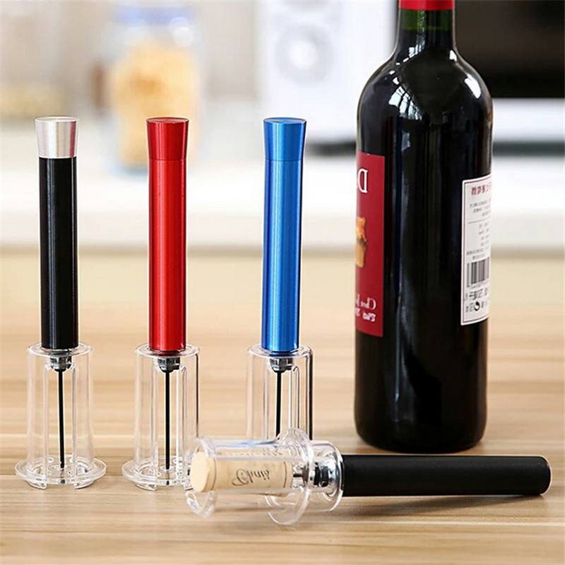1Pcs Red Wine Opener Air Pressure Cork Popper Bottle Pump Corkscrew Cork Out Tool Kitchen Dining Bar Supplies