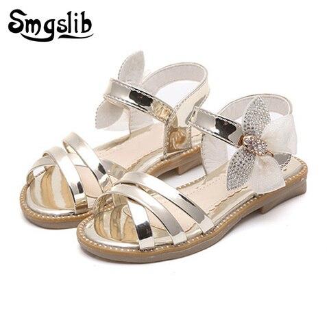 sandalias de verao para meninas do bebe 2018 moda borboleta criancas sandalias de couro doce