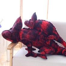 70cm/100cm Big Simulation chameleon Plush Animals Toys Stuffed Plush chameleon dragon Pillow Toy Birthday Gifts Kids Toys