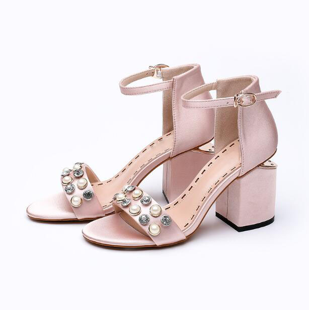 2017 sandalia feminina fashion buckle women shoes crystal high heels sandals women sexy summer ladies shoes elegant party sandal  miquinha summer fashion casual shoes women sandalia feminina open round toe buckle strap square heel shoes sexy ladies sandals