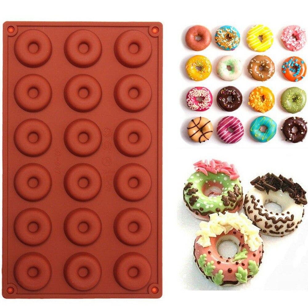 1 Unids Donut Forma Mollete Dulce Jalea Del Caramelo de la Torta de Chocolate Fo