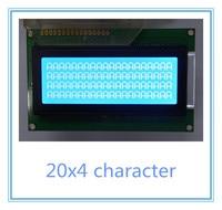 Free Shipping 2pcs Russian Cyrillic Font Language 20x4 204 2004A Lcd Display Module Blue Professional Lcd