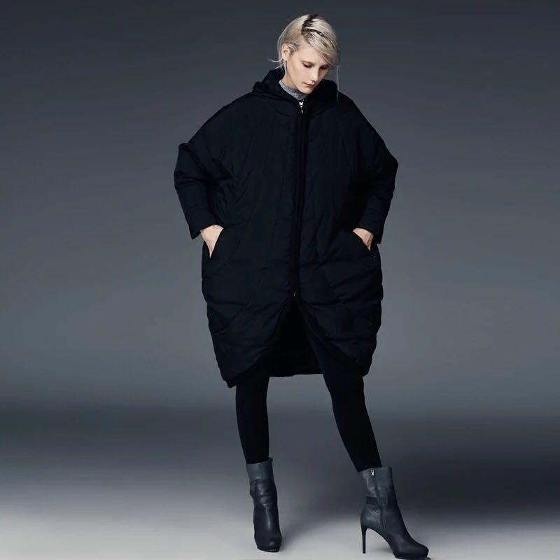 2017 New Women Tide White Duck Down Personality Fashion Cloak Down Jacket Female Loose Casual Winter Down Coat EF1122 new arrival 2018 winter europe fashion women s duck down coat