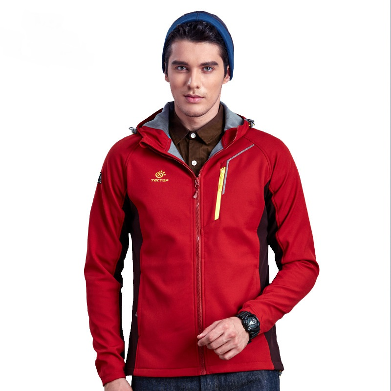 ФОТО New 2016 Autumn Winter Outdoor Windproof Thermal Men Softshell Jackets Male Breathable Thermal Fleece Hiking Coats Free Shipping