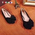 Size 35-40 5 Colours Bowtie Designer Flat Shoes Point Toe Woman Shoes Autumn Korean Candy Flats Girl Footwears ML2496