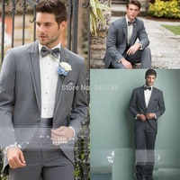 New arrival gentlemen formal party prom suits for wedding custom made Bridegroom Tuxedos/one button groomsmen suits/wedding suit