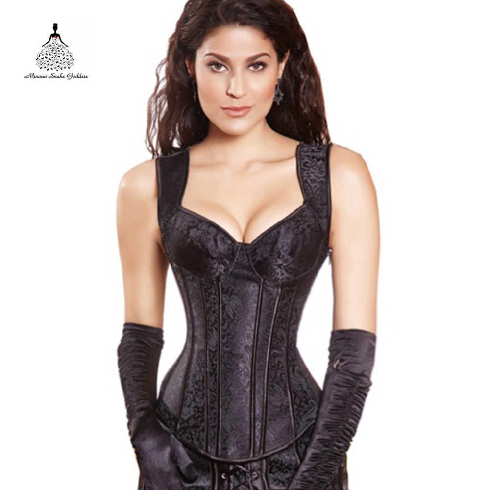 db35cbf8b23ed Corset waist trainer hot shaper bustiers Corsets top black Female corset  burlesque steampunk corset gothic clothing