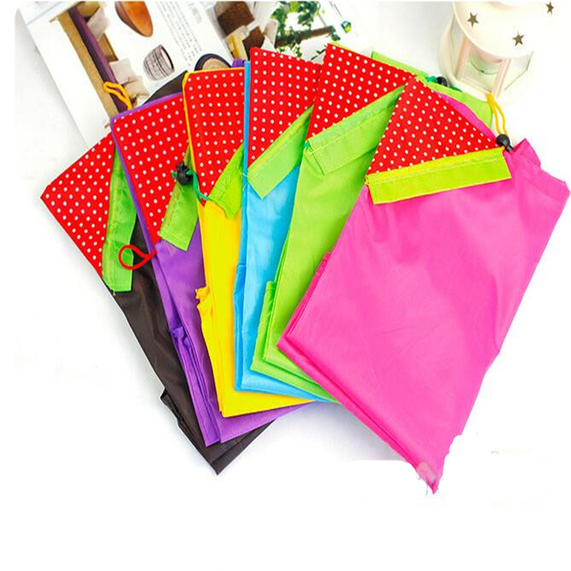 цена на Eco Storage Handbag Strawberry Foldable Shopping Bags Reusable Folding Grocery Nylon Bag Large Capacity Home Tote Pouch