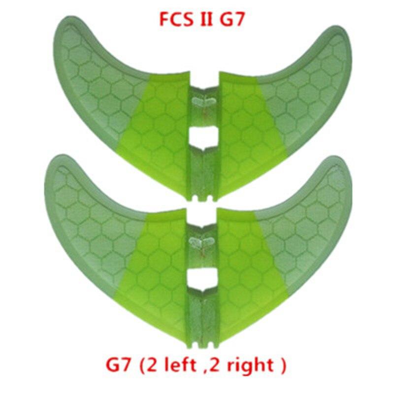 Srfda taille 2pcsG7 + 2 pièces GL quad ailerons 4 pcs/Lot Haute qualité planche de surf FUTURE FCS II nageoires avec fibre de verre miel peigne matériel