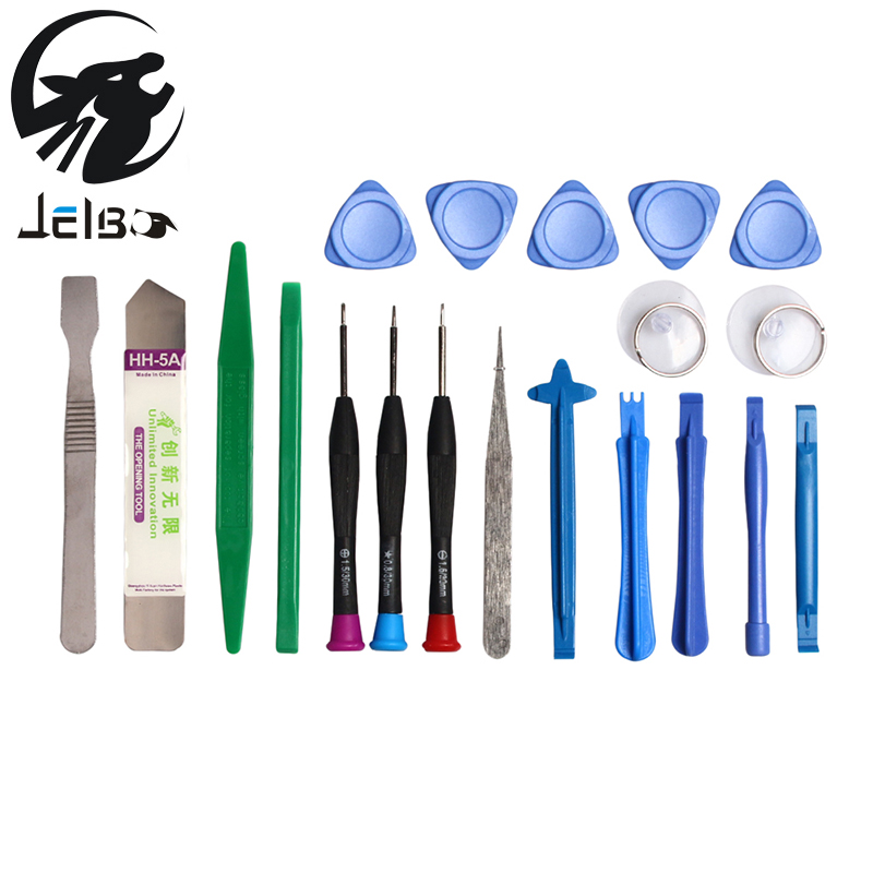 Jelbo 20 in 1 Mobile Phone Repair Tools Set Kit Pry Opening Tool Screwdriver Set for iPhone iPad Cell Phone Hand Tools Tweezers new professional 38 in 1 mobile phone repair tools kit opening screwdriver for iphone 5s 5 4s 4 sumsang mulitifuntion tool set