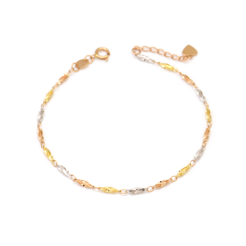 18K rose gold gold color gold female small carambola bracelet18K rose gold gold color gold female small carambola bracelet