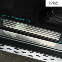 TTCR II Car Accessory For Mercedes Benz GLE Coupe(C292) 320 350d 400 450 W166 2015 2016 Exterior Inner Door Sill Scuff Plate