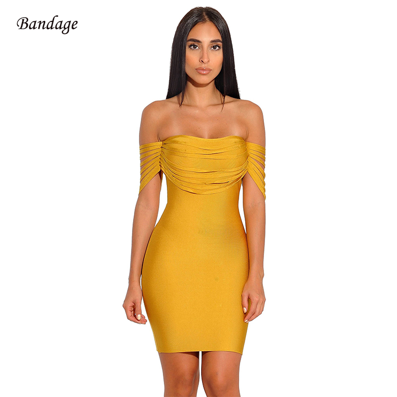 Hot Sale New Arrivals Tassel Bandage Dress 2019 Women Sexy Strapless  Shoulder With Fringe Party Bodycon 984581a1c7e3