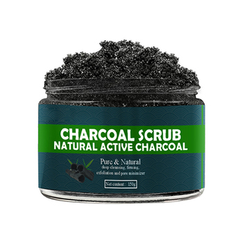 150g Bamboo Charcoal Face Scrub Body Scrub Exfoliating Gel Dead Skin Remover Whitening Moist Deep Cleasing Skin Care Product 1