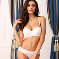 Fashion wedding dress tube top paragraph underwear push up set lace sexy white slip-resistant women's bra set 34B 36A 32B
