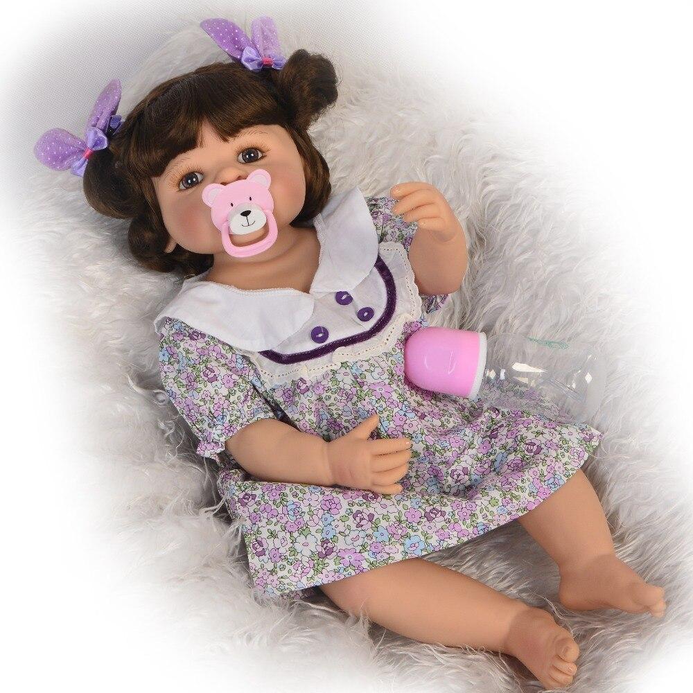"""22 """"55 cm 전체 실리콘 바디 다시 태어난 아기 인형처럼 진짜 소녀 boneca 비닐 신생아 공주 인형 장난감 bebe 생일 선물-에서인형부터 완구 & 취미 의  그룹 2"""