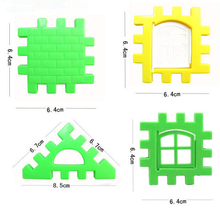 24pcs/lot Baby Paradise House spelling puzzle plastic blocks City DIY Creative Model Figures Educational Kids Toys LYQ