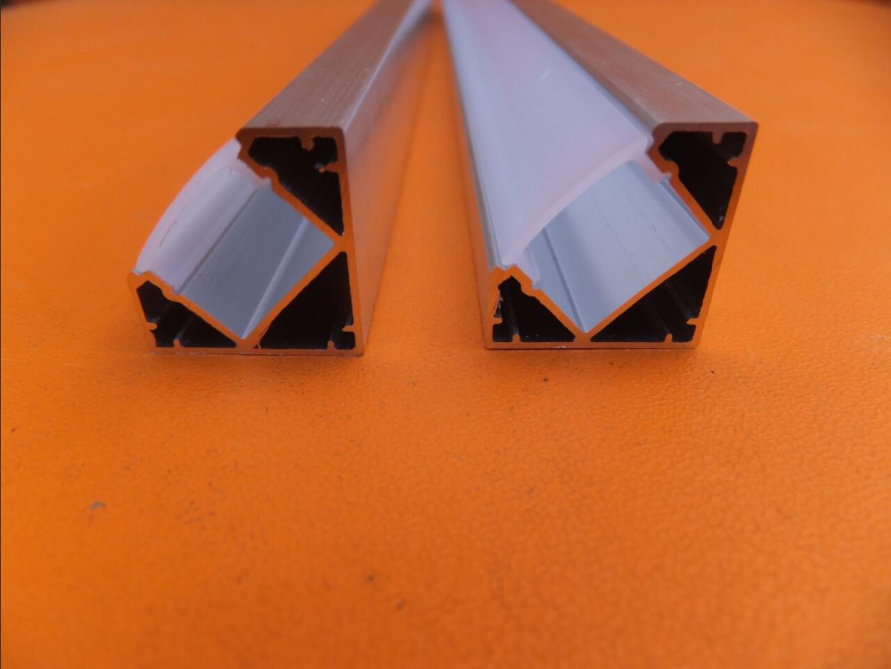 Nemokamas pristatymas 100vnt / lot 2Meter ilgio LED aliuminio - LED Apšvietimas - Nuotrauka 3