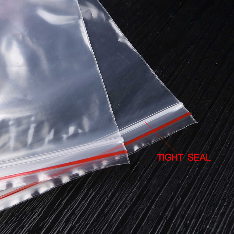 100 Pcs 13x19 cm Resselável Claro Selo Zip Lock Sacos de Plástico Ziplock Bag Reclosable Poly Sacos De Doces Para tanque de Armazenamento de lanches
