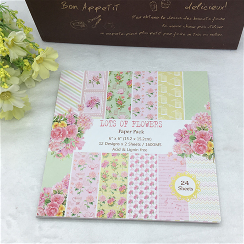 Paper Pads For Card Making Part - 20: Aliexpress.com : Buy 24 Sheets Scrapbook Paper Craft DIY Origami Art Card  Making Photo Album Scrapbooking Paper Pad Craft DIY From Reliable Crafts  Diy ...