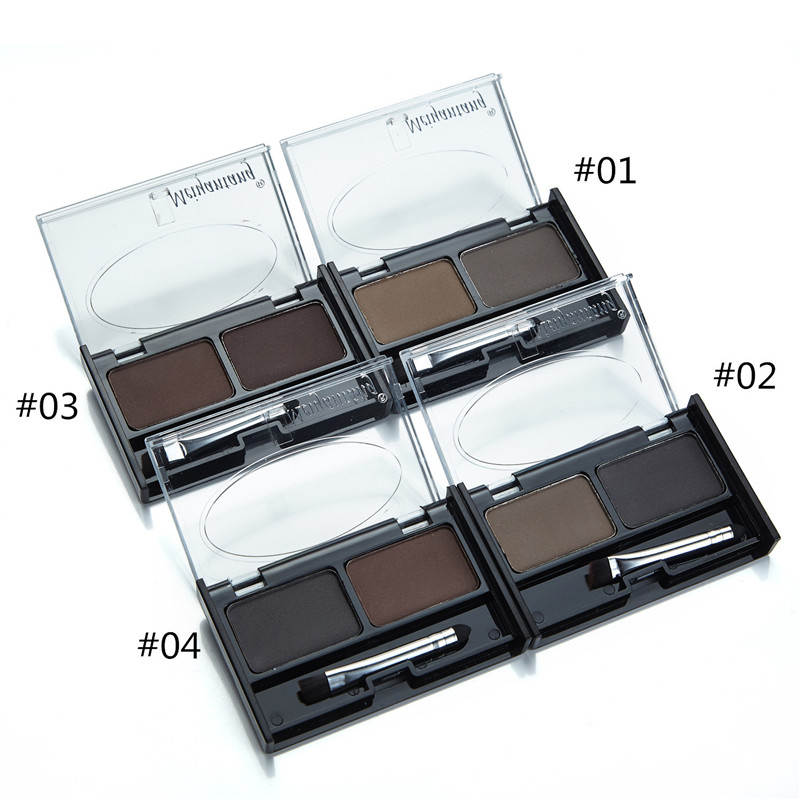 Professional Eye Brow Makeup 2 Color Shadow brow Powder With Brush brow Cake Dark Brown Make Up Palette Set Kit New 5