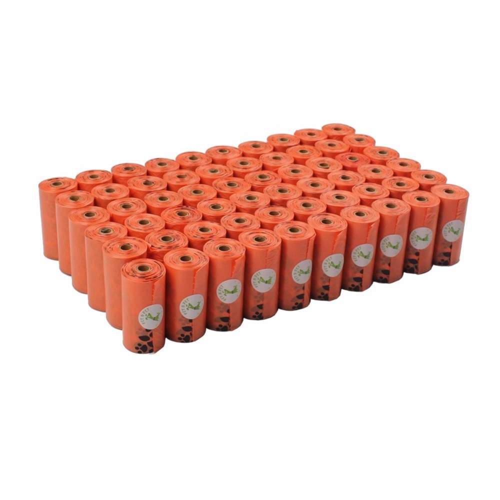 Dog Poop Bags Earth-Friendly 1008 Counts Large Orange Cat Waste Bags Unscented 56 Rolls (Refill Bags) Garbage Bag
