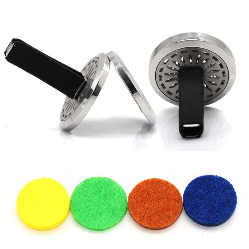 Stars Moon Car Aromatherapy Diffuser Stainless Steel Car Air Freshener Car Clip Perfume Essential Oil Diffuser Lockets Jewelry