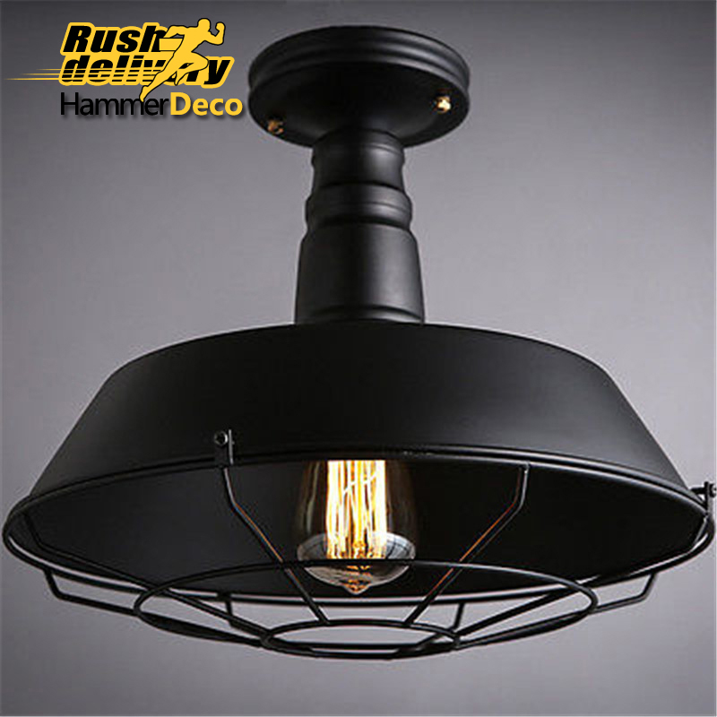 American Vintage Pendant Lights Black Lamp Holder Edison Light Bulbs Industrial Lamps E27 modern edison personality industrial lighting counter lamps cage vintage pendant lights pendant lamp edison bulbs ac 110 220v