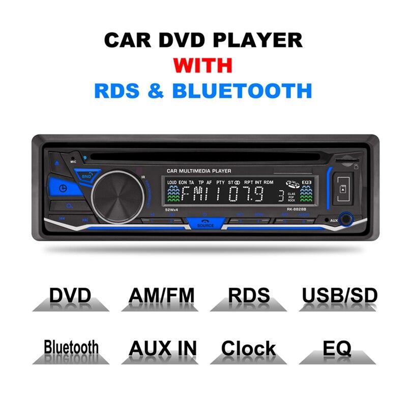 1 DIN Car Stereo 12V FM Aux Input Car Stereo Radio Audio Player Receiver CD DVD VCD WMA MP3 Player with SD/USB Port auto radio car radio 12v bluetooth v2 0 sd usb mp3 wma car audio stereo in dash 1 din fm aux input receiver