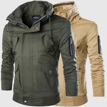 ZOGAA 2018 autumn and winter new double collar design special coat large size mens casual multi-pocket tooling jacket 5 colors