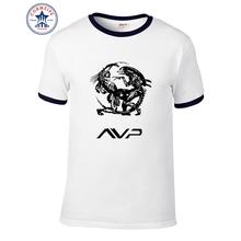 2016 Fashion Science Fiction Alien Predator Avp Printed Men T shirt Short Sleeve Casual t-shirt Hipster Cool Tops