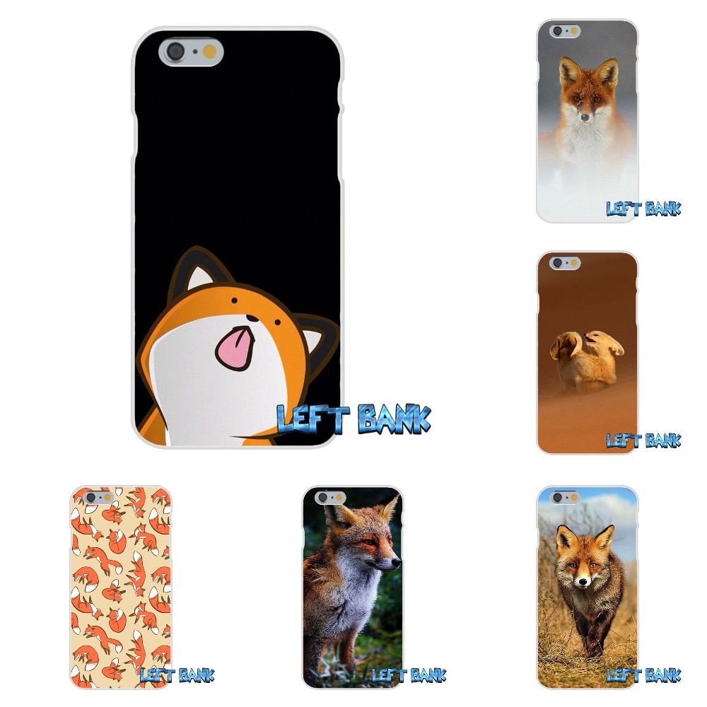 Cartoon Red Fox Soft Silicone TPU Transparent Cover Case For iPhone 4 4S 5 5S 5C SE 6 6S 7 Plus