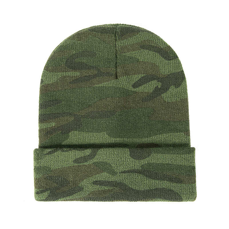 57c800dfb GROUP JUMP Knitted Camo Beanies Skullies Thicken Knitted Army Camouflage  Hat for Men Winter Hat Warm Beanie Casual Green Hats