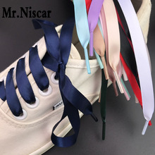 12c0e3c86e0deb 1 Pair Cheap 1cm Wide Double-side Silk Belt Ribbon Shoelaces Colored Red  Polyester Shoelace