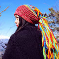Dreadlock Chapéus Handmade Malha de lã Chapéu Gorro de Inverno Chapéu de crochê Quente Terrível Queda Dreadlocks Dreadlocks Hippie Boho Hippie